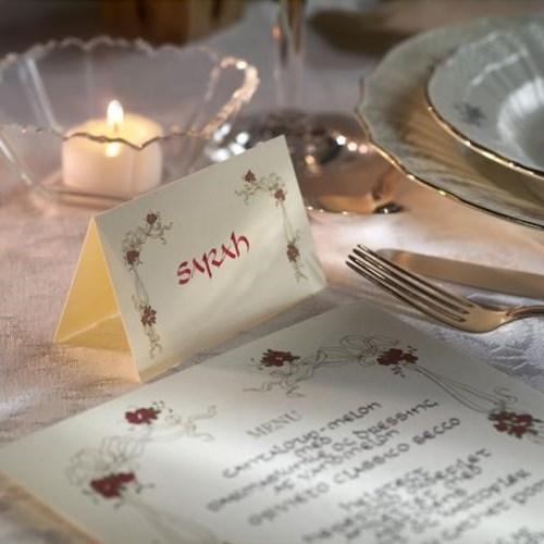 Smuk kalligrafi til dine bordkort
