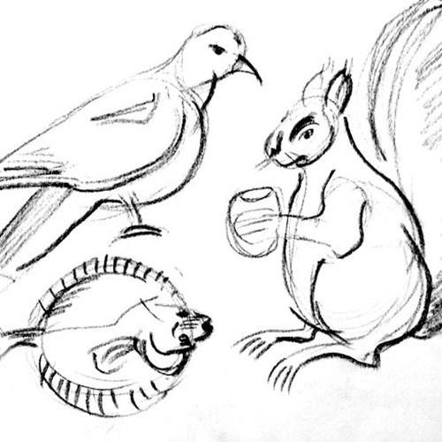 Juleworkshop - Lær at tegne dyr  kl. 12:15 - 15:00