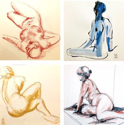 Croquis - tegning efter levende model
