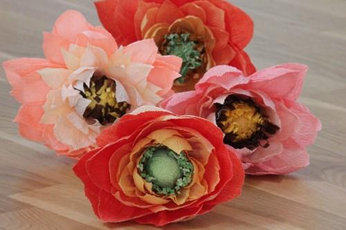 Blomster i crepepapir