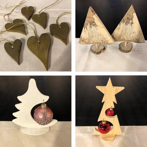 Juleworkshop - Julepynt i træ kl. 12:15 - 15:00