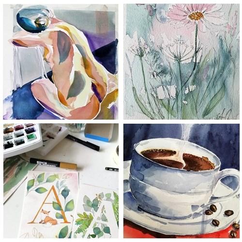 Akvarel maling - torsdag kl. 19:00 - 21:45