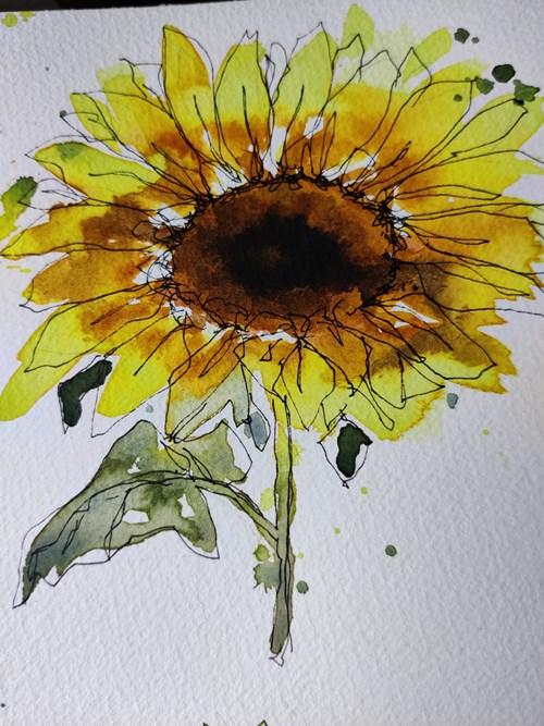Akvarel maling - blomster