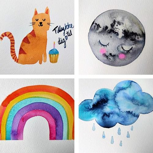 Forårsworkshop - Akvarel maling kl. 12:15 - 15:00